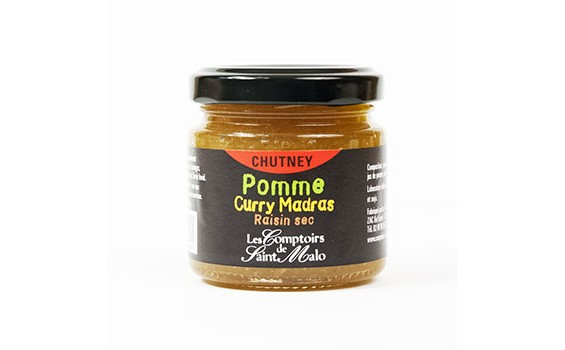 Chutney Pomme Curry Madras Raisin sec
